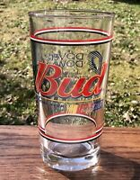 BUDWEISER NASCAR Dover Downs Speedway Vintage Heavy LIBBY Beer Pint Glass