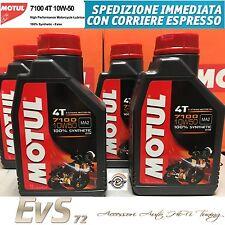 4 Litri Motul 7100 10W50 4T Olio Tagliando Motore Moto 100% Sintetico ESTERE