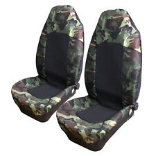 Universal Camo Camouflage Car Front Seat Covers SUV High Back Bucket Protector