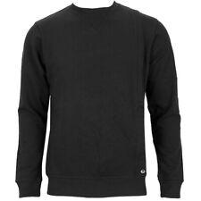 Adidas suéter de Cinta de Plata Redondo Puente Sudadera Jersey Hombres Negro XS-XXL