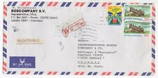 1990 INDONESIA Registered Air Mail Cover JAKARTA to HAMBURG GERMANY