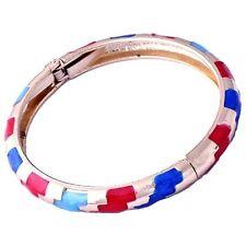 Fashion Womens Wrist Gold Filled Multicolor Enamel Band Cuff Bangle Bracelet