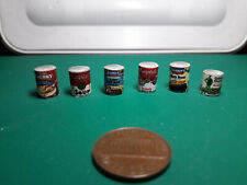 6 Miniature Food canned set. Scale 1:12