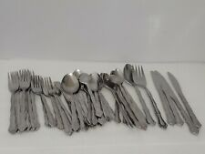 45 piece Northland COLONIAL MOOD Stainless Flatware Teaspoon Fork Spoon Mixed