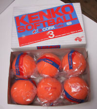 Kenko Softball Cork Slo-Pitch Soc-12 6-Pack Orange Msp-47 - Old Store Stock S13