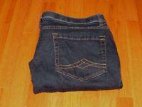Women's DENIM COMPANY Dark Blue Stretch Waistband Denim Jeans Size 22 W 40 x 28