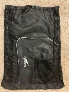 Speedo black mesh swim bag