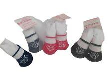 BNWT Baby Mädchen Rot Oder Marineblau Schwarz Prinzessin Socken IN Netz Bag 0-6