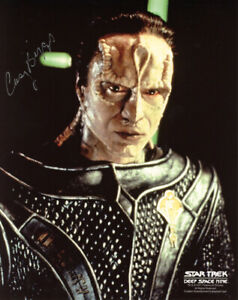 CASEY BIGGS SIGNED 8x10 PHOTO CARDASSIAN DAMAR STAR TREK DS9 RARE BECKETT BAS