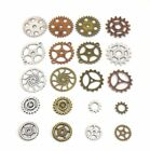 20 pcs Gears Cogs Antiqued Copper Brass & Silver for Crafting Steampunk Jewelry