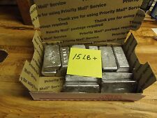 Lead ingots.  15 lbs clean recovered range lead for reloading or fishing.