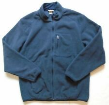 Mens's Large Duluth Trading Company Full Zip Blue Fleece Jacket