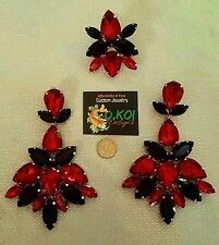drag queen jewerly new clip on large show pageant  dragqueen jet siam red Ring