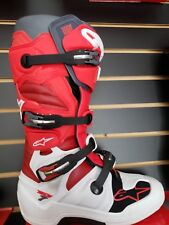 Alpinestarstech 7 boots Red White Size 10