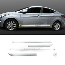 Chrome Side Door Under Line Molding Cover Trim D034 for HYUNDAI 2011-16 Elantra