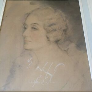 Arderne Clarence Watercolour Painting Signed Dated 1939 Lady Spencer (Churchill)