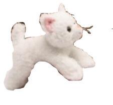 """Unipak Flopsies Plush Toy White Cat, 8"""""""