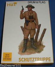 HAT SET 8270 - SCHUTZTRUPPE  - WW1 - 1:72 SCALE UNPAINTED PLASTIC FIGURES X 44