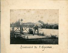 France, Scène Humoristique, lancement de l'Epervier  Vintage silver print