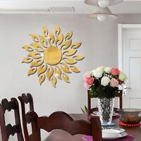 Removable Art Room Decal Mural Sun Wall Sticker 3D Mirror Acrylic