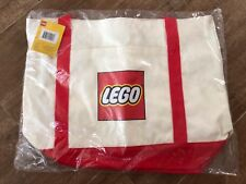 LEGO 5005326 Exclusive Canvas Tote Bag red Logo New in bag Store