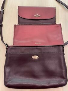 Coach 3 piece cross body / wallet / pouch Bundle  - Guaranteed Authentic