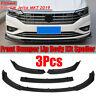 For VW Jetta MK7 2019 3PCS Matte Black Front Bumper Lip Body Splitter  */!