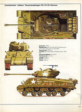 Panzerkampfwagen -- M4 A3 E6 Sherman -- Poster-Plakat - Farbe-