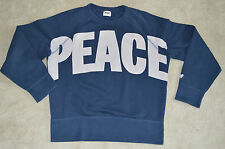 Acne Studios College Peace Navy/Nude Jumper Sweater Crew Knit Mens Small S
