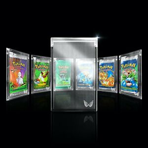 ARK-BLAZE Pokemon Yugioh MTG Cards Booster Pack Clear Magnetic Acrylic Case