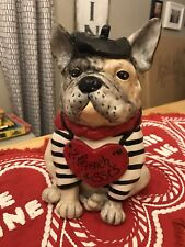 Blue Sky Clayworks Valentine's Day French Bulldog Figure Free French Kisses New!