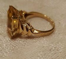 14k Yellow Gold Citrine Ring 5.45g