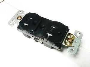 (10 pc lot) NEW 20A Tamper Resistant Standard Duplex Receptacles 20 Amp Black TR
