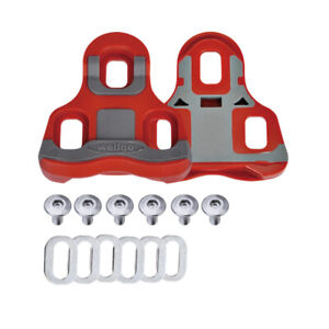 Wellgo RC-7B Road Bike Pedal Cleats 6 Deg Float Look Keo Compatible - Red