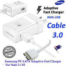 Samsung 9V Adaptive Fast Wall Charger+USB 3.0 Cable Galaxy Note 3 S5