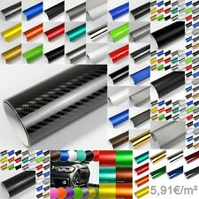5,91€/m² AutoFolie Carbon 2D 3D 4D 5D Matt + Glanz + Alu Chrom Deko Folie Auto