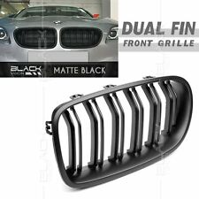 Matte Black Dual Slat Fin Front Mesh Grille for BMW F10 F11 2010-2016 free Clip