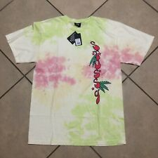 STUSSY SUNSHINE TIE DYE NATURAL PINK T SHIRT SIZE MEDIUM NEW WITH TAGS