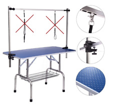 Dog Grooming Table, Adjustable Clamp Overhead Pet Grooming Arm with Double Loop