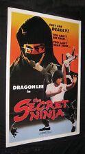 Original 1982 SECRET NINJA INJAMUN SALSU Martial Arts DRAGON LEE
