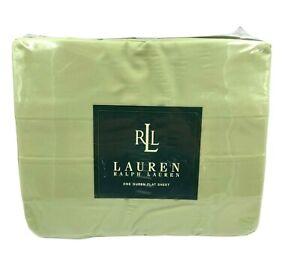 Lauren Ralph Lauren New Solids Honey Dew Queen 250 Thread Count Flat Sheet