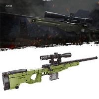 Technic AWP AWM Army Gun Sniper Weapon 42056 42083 Building Blocks Bricks MOC