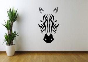 Zebra Head Animal Wall Art Decal Sticker A85