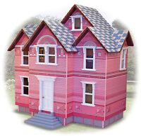 Melissa & Doug Viktorianisches Puppen Haus aus Holz Maßstab 1:12 Handarbeit