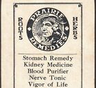 Indian Herb Prairie Medicine Cleveland OH Blood Tonic Scout Liniment Remedy Card