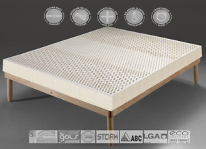 15~20cm thickness, 7-Zone 100% Natural Latex Mattress + 2x Latex Pillows.