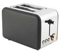 2-Slice Toaster 850W Rose Gold Edition Defrost Reheat Stainless Steel Salter