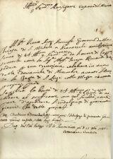 Documento Autografo Mons. Fazzi Vescovo San Miniato Concessione Indulgenza 1786