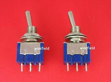 Piano Lot 2 x New SPDT Mini Toggle ON/OFF OFF/ON Switch WFAU