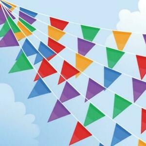 10Meter Long MultiColoured 20Flags Bunting PVC Banner For Party Indoor & Outdoor